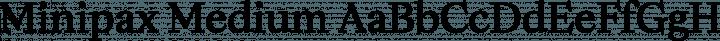 Minipax Medium free font