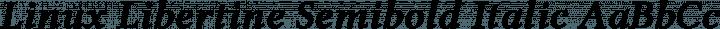 Linux Libertine Semibold Italic free font