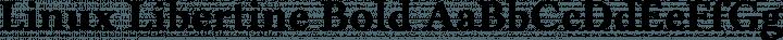 Linux Libertine Bold free font