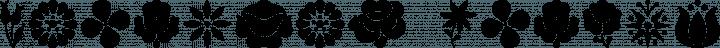 Kalocsai Flowers font family by Levi Halmos
