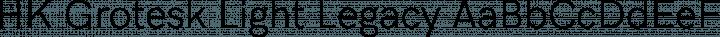 HK Grotesk Light Legacy free font