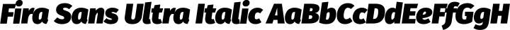 Fira Sans Ultra Italic free font