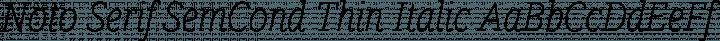 Noto Serif SemCond Thin Italic free font