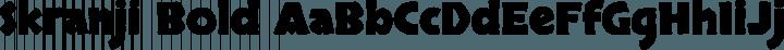 Skranji Bold free font
