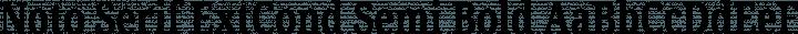 Noto Serif ExtCond Semi Bold free font