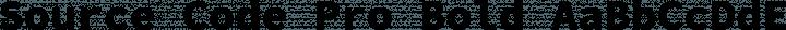 Source Code Pro Bold free font