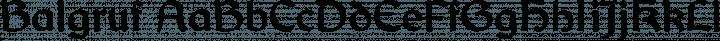 Balgruf font family by Paul Miller