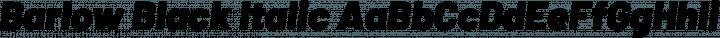 Barlow Black Italic free font