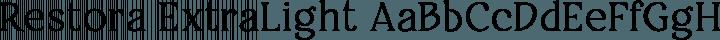 Restora ExtraLight free font