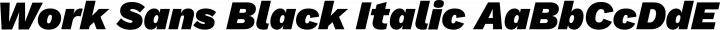 Work Sans Black Italic free font
