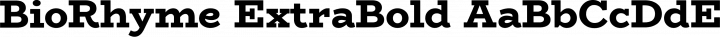 BioRhyme ExtraBold free font