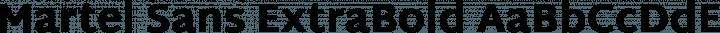Martel Sans ExtraBold free font