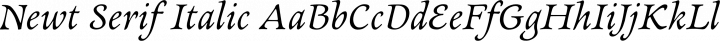 Newt Serif Italic free font
