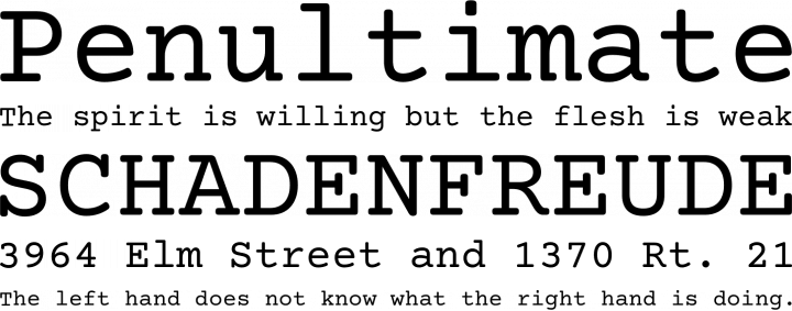 Courier Prime Font Free by Quote-Unquote Apps | Font Squirrel