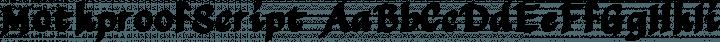 MothproofScript Regular free font