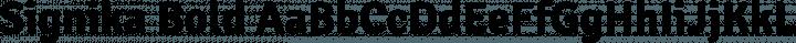 Signika Bold free font