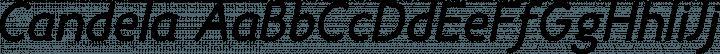 Candela font family by La Tipomatika