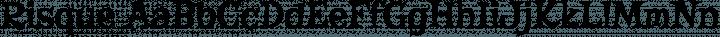 Risque Regular free font