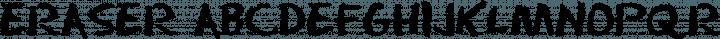 Eraser Regular free font