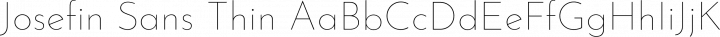Josefin Sans Thin free font