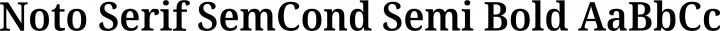 Noto Serif SemCond Semi Bold free font