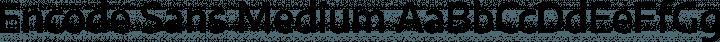 Encode Sans Medium free font