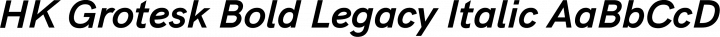 HK Grotesk Bold Legacy Italic free font