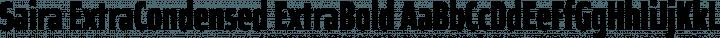 Saira ExtraCondensed ExtraBold free font