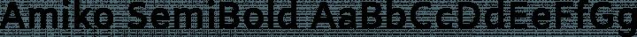 Amiko SemiBold free font