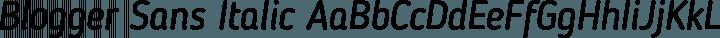 Blogger Sans Italic free font
