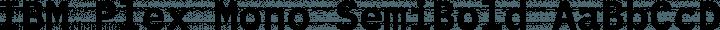 IBM Plex Mono SemiBold free font
