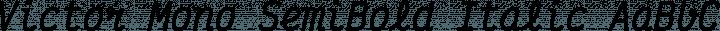 Victor Mono SemiBold Italic free font