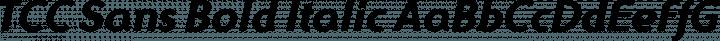 TCC Sans Bold Italic free font