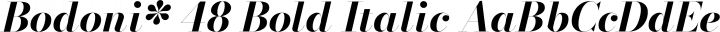 Bodoni* 48 Bold Italic free font