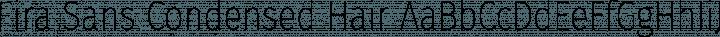 Fira Sans Condensed Hair free font