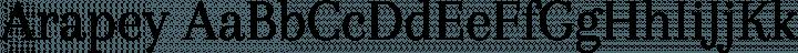 Arapey font family by Eduardo Tunni