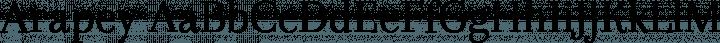 Arapey Regular free font