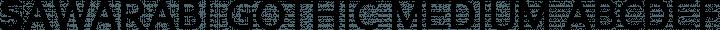 Sawarabi Gothic Medium free font