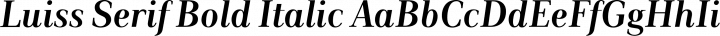 Luiss Serif Bold Italic free font
