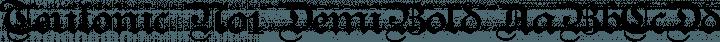 Teutonic No1 DemiBold free font