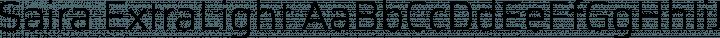 Saira ExtraLight free font