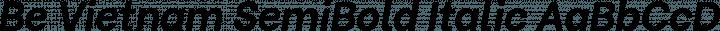 Be Vietnam SemiBold Italic free font
