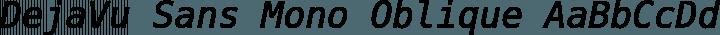 DejaVu Sans Mono Oblique free font