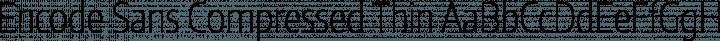 Encode Sans Compressed Thin free font