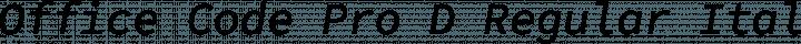 Office Code Pro D Regular Italic free font