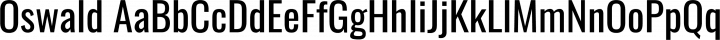 Oswald Regular free font
