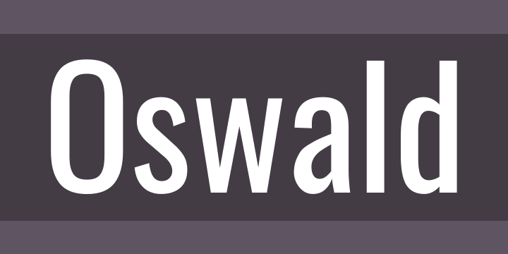 Oswald Font Free by Vernon Adams » Font Squirrel