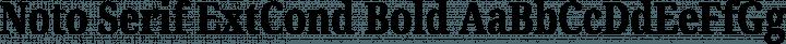 Noto Serif ExtCond Bold free font