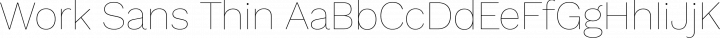 Work Sans Thin free font