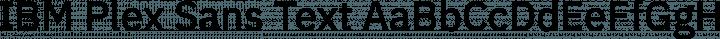 IBM Plex Sans Text free font